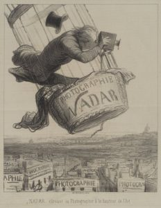 Nadar élevant la Photographie à la hauteur de l'Art (Nadar elevating Photography to Art). Honoré Daumier (1863)