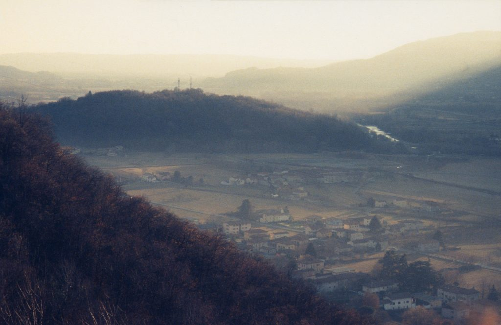 View of a village in a valley