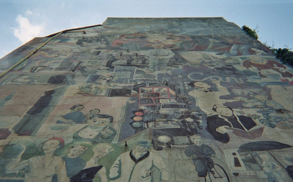 photo of painted mural