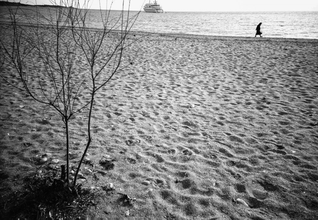Lone woman on beach - Lomo lc-a