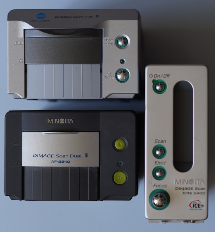 Minolta film scanners