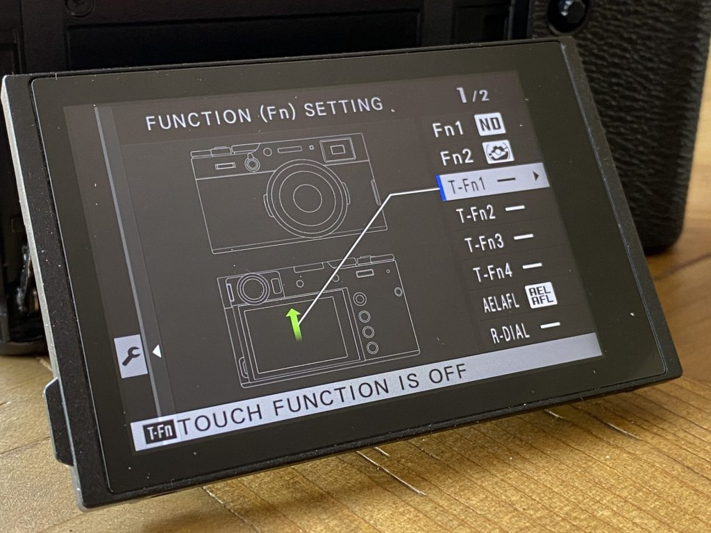 Fuji X100 Touch Screen off