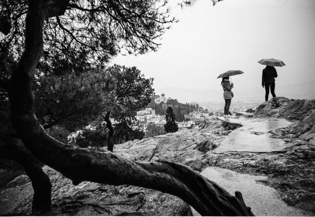 Figures with umbrellas - lomo lc-a