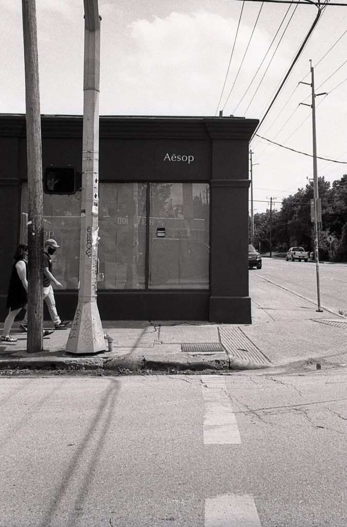 Aesop Store Closed Down Harsh Sun Kodak 400tx Leica M6 Elmarit 28