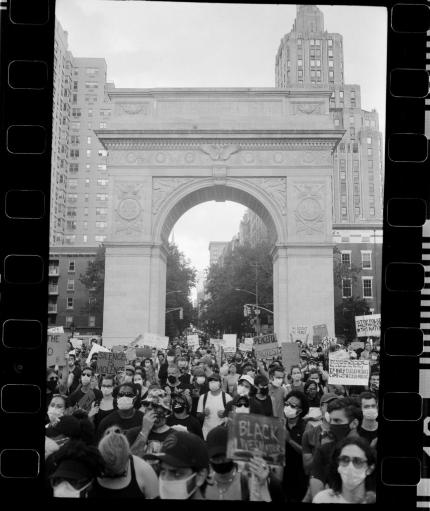 Washington Square Park filled to the brim
