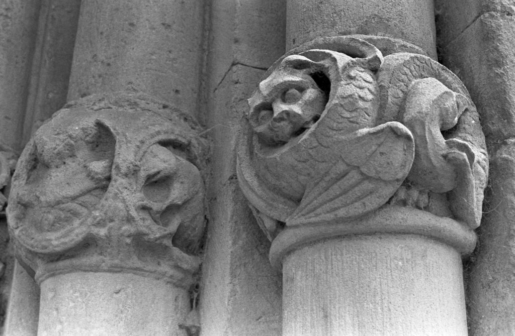 carved stone on cathedral