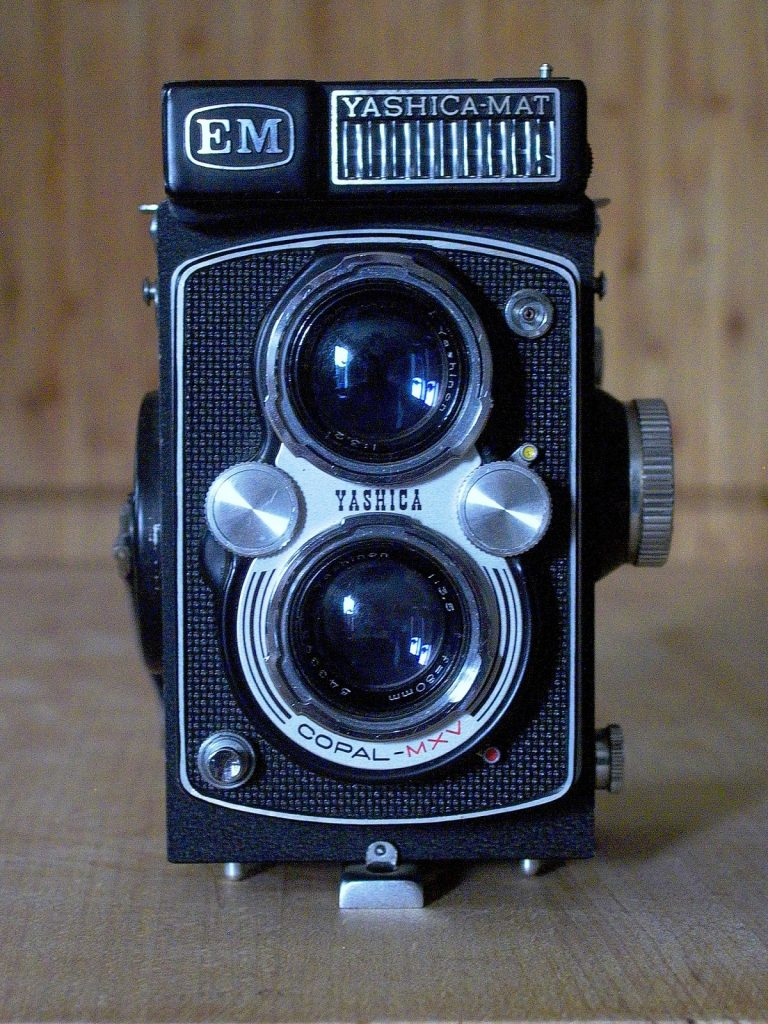 photograph of a Yashica EM TLR camera