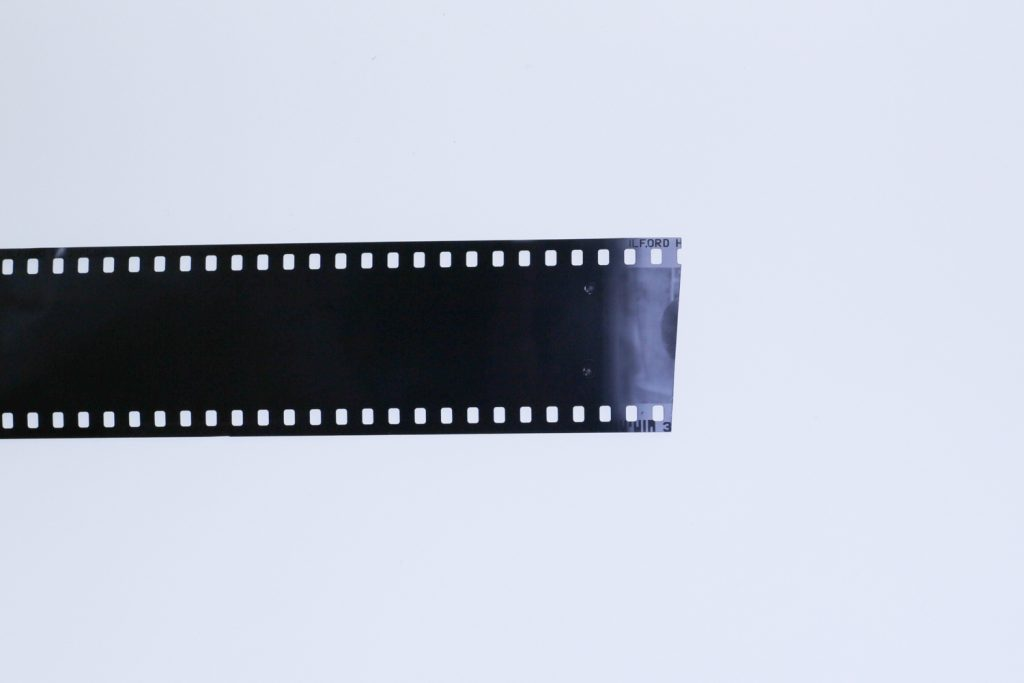 Fragment of correctly exposed film