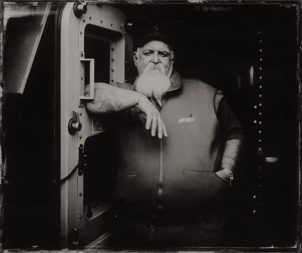 The Lifeboat Station Project by Jack Lowe: Dave Milford, Plymouth RNLI Coxswain, 12x10 inch Clear Glass Ambrotype, March 2020