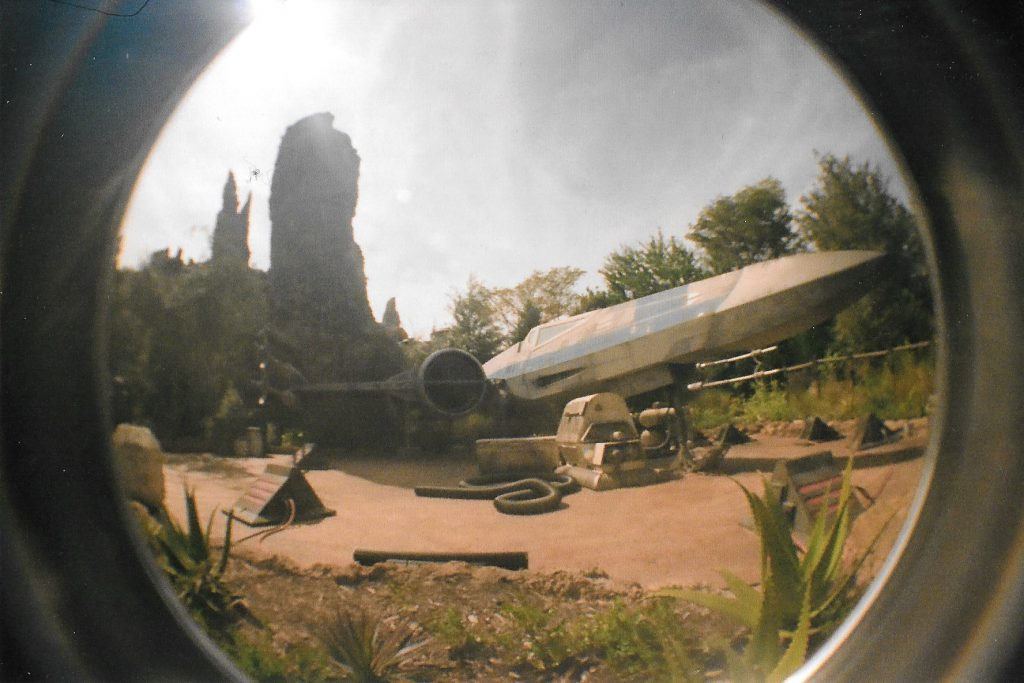 X-Wing Fighter - Lomography Fisheye 2