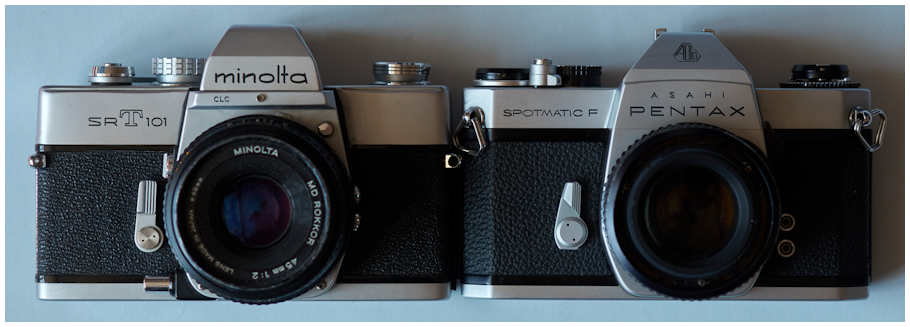 Minolta SRT 101 vs Pentax Spotmatic F