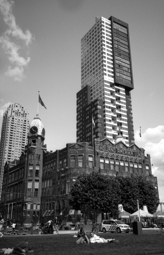 The New York hotel in Rotterdam-an 1901 beautiful building fits this film perfectly