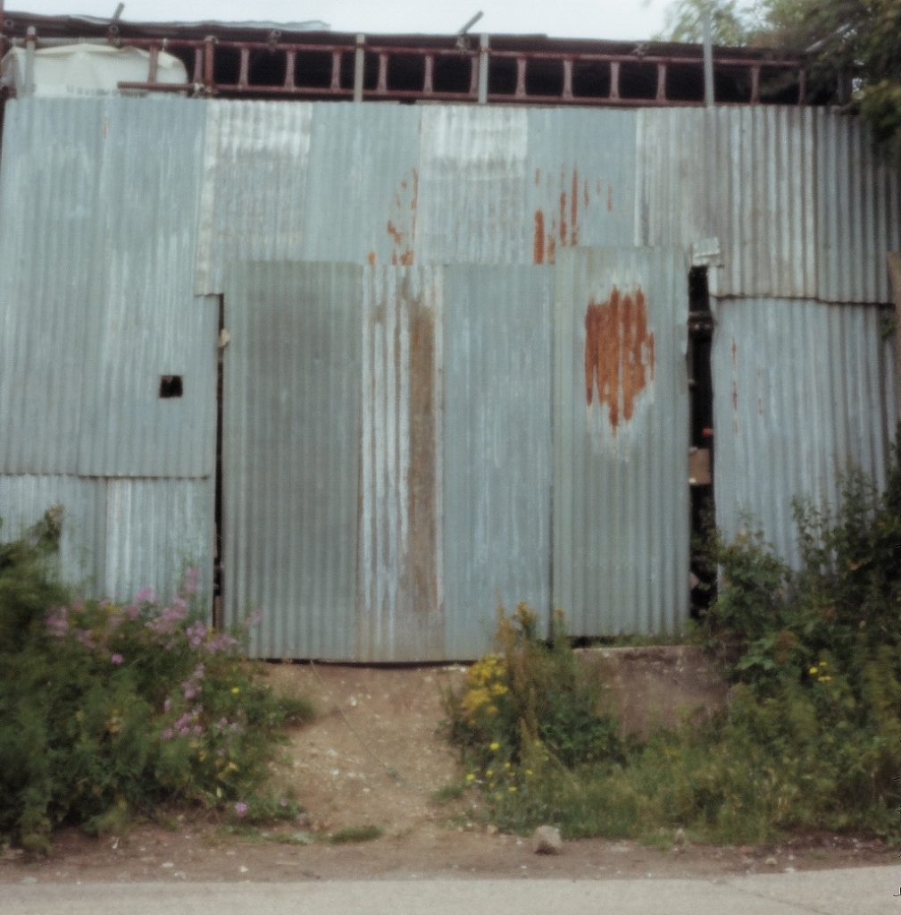 photo of corrugated building