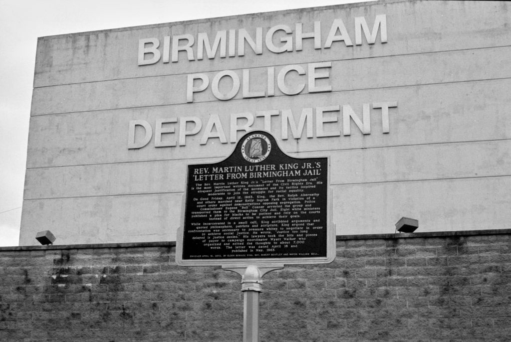 Historical marker for Kings Letter from Birmingham Jail