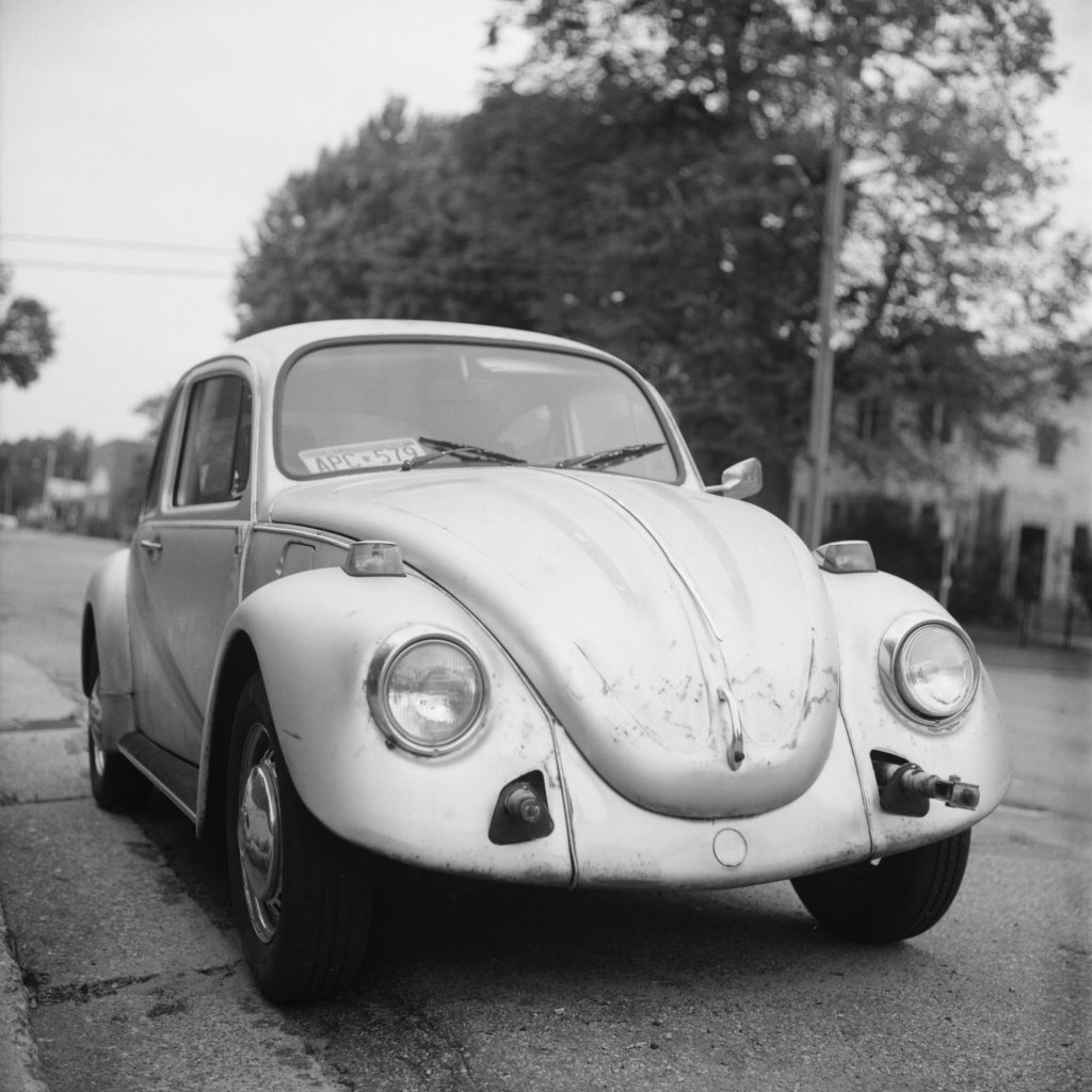 VW Bug taken with Rolleiflex 2.8C