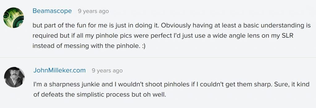 flickr comments on sharpness