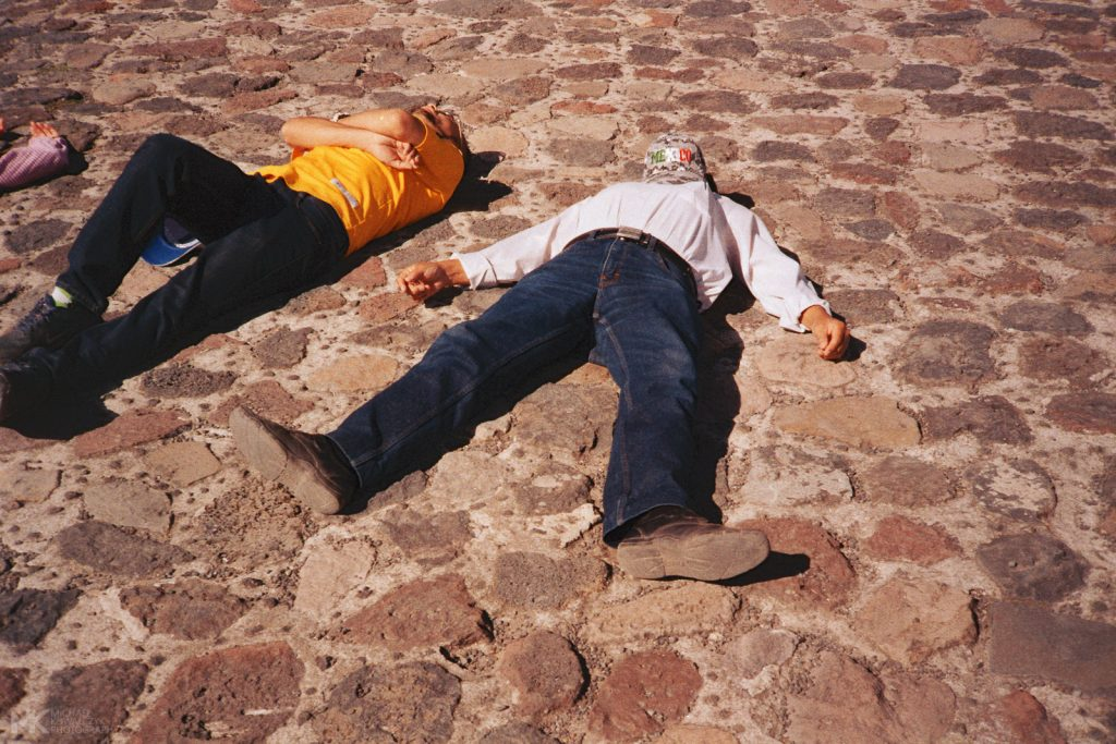 Asleep on top of the Pyramid of the Sun Teotihuacan Mexico 2019