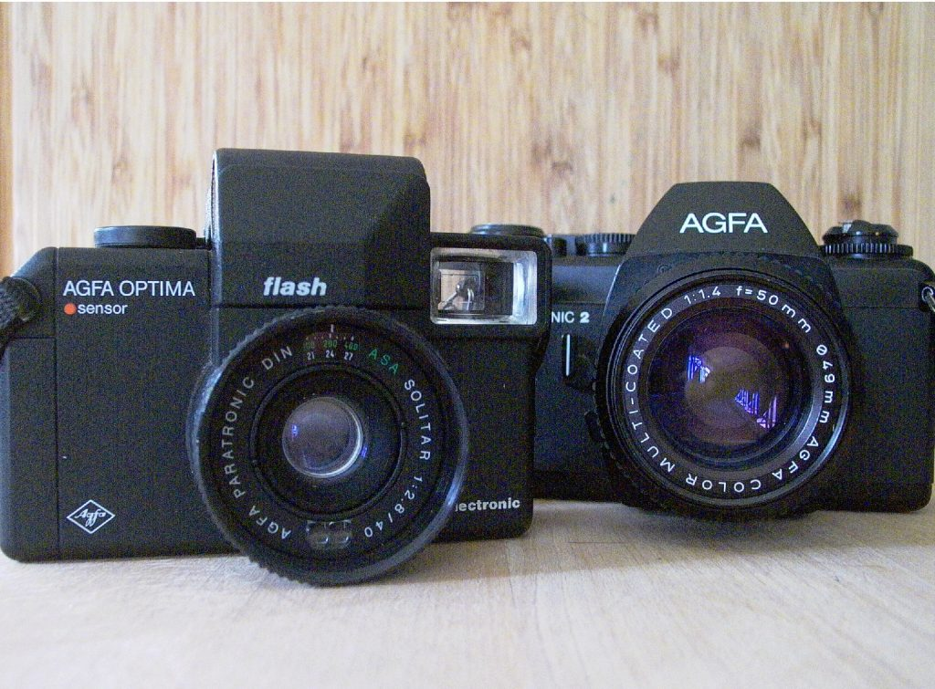 a photo of two agfa cameras