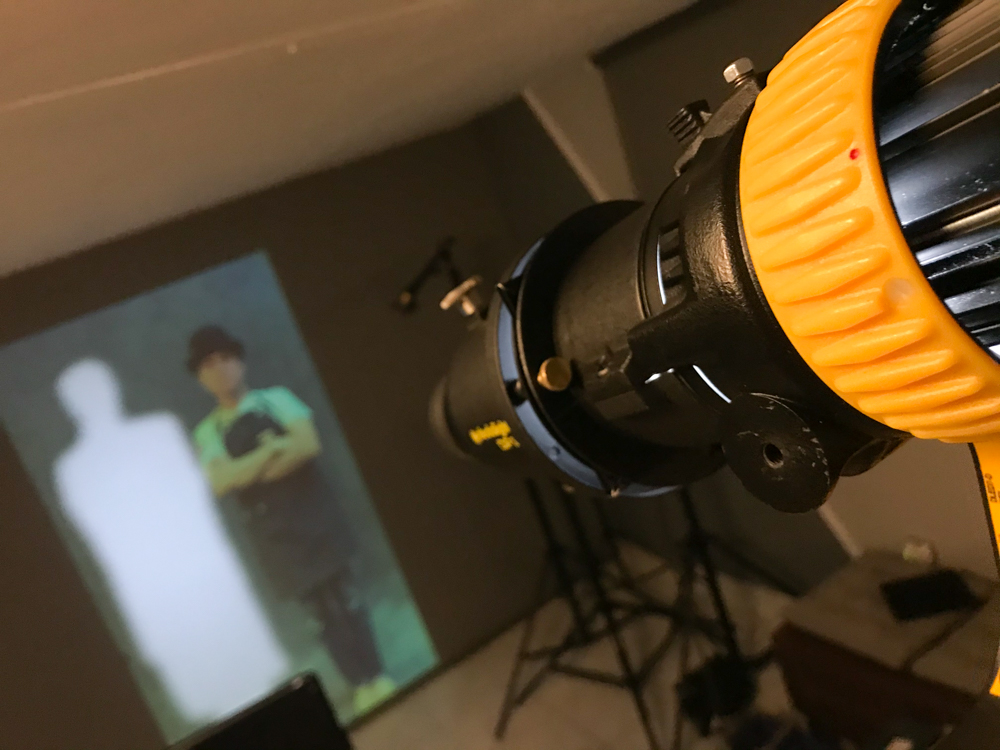 Finally a solution with my gobo in the Dedolight projector