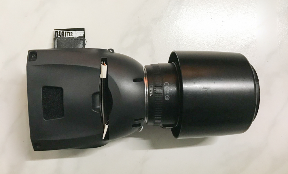 Lightblaster with a Canon lens