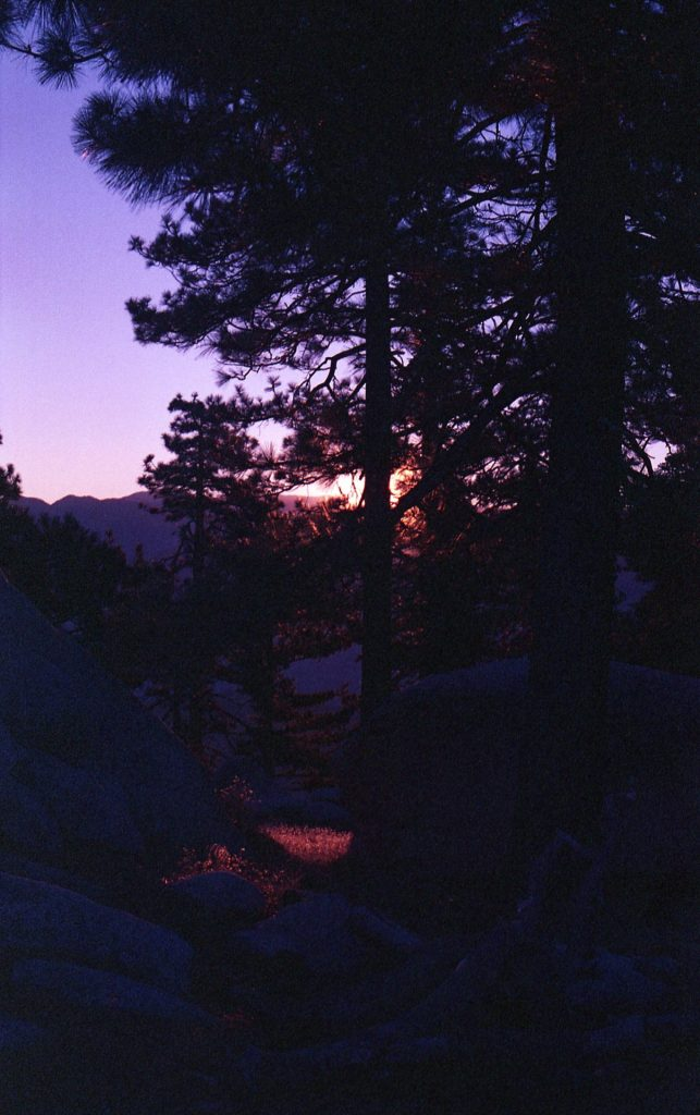 The colors dance at dawn on Mt Pacifico.