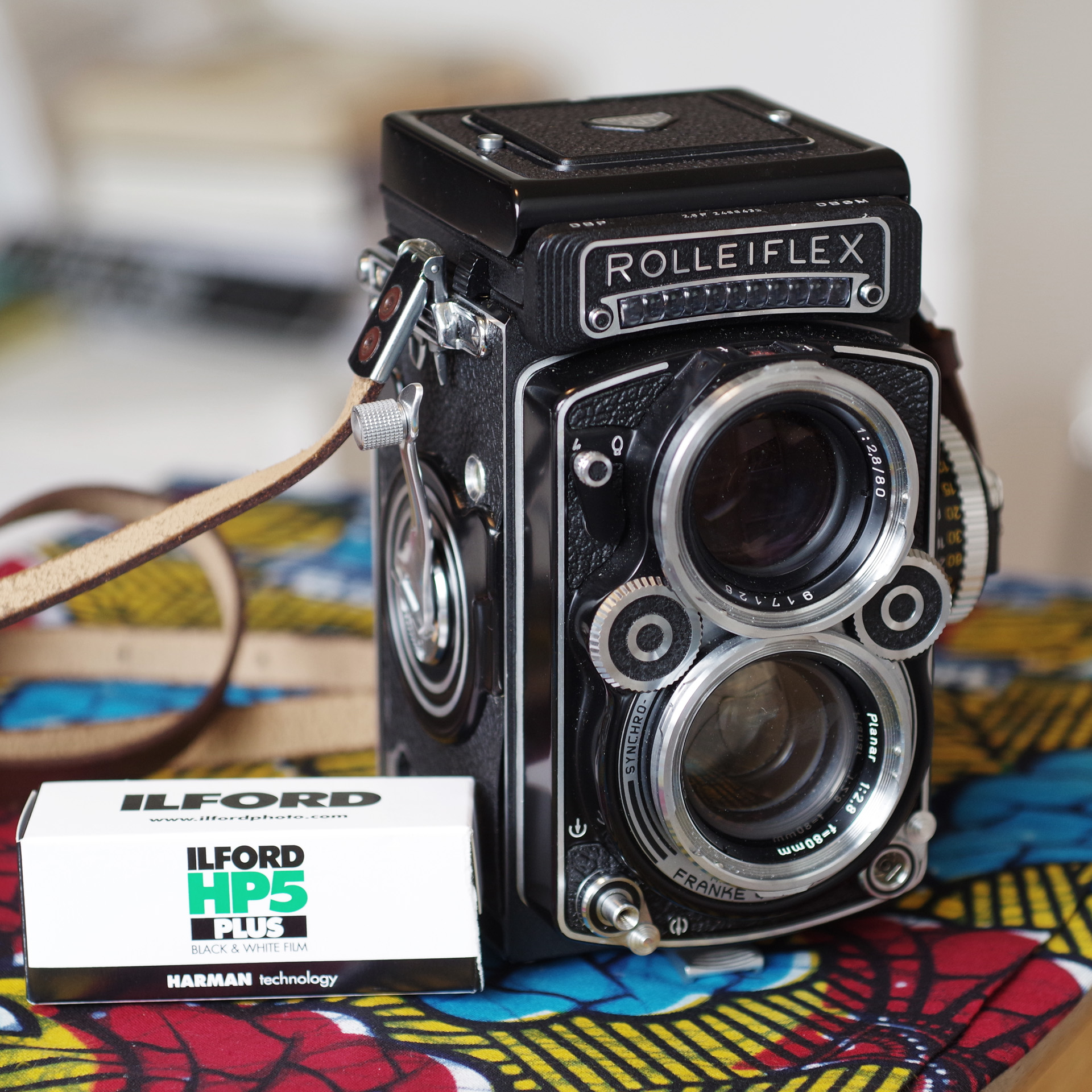 A Rolleiflex and some film