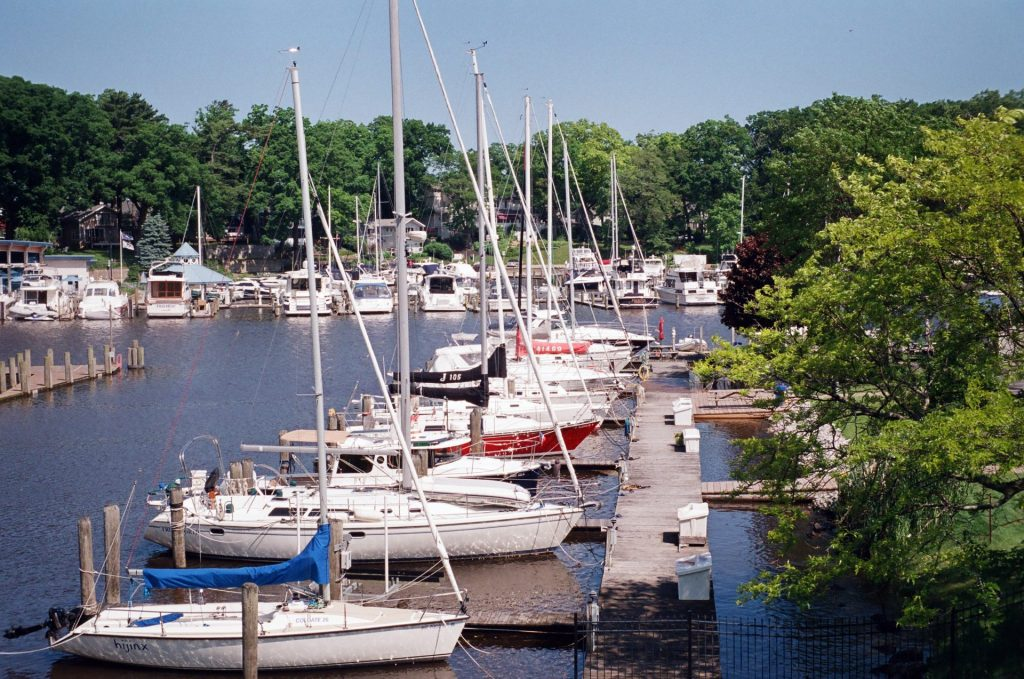 Shooting the C4 at midday. Boats docked in South Haven, MI.