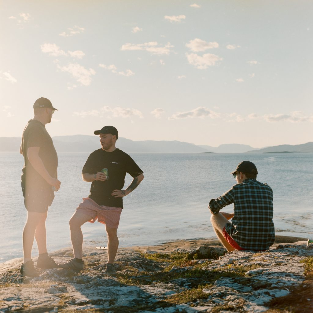 Greg, Cameron and Stoney by the water