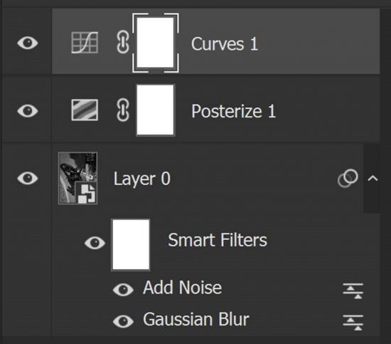 Photoshop layer structure of the policeman image