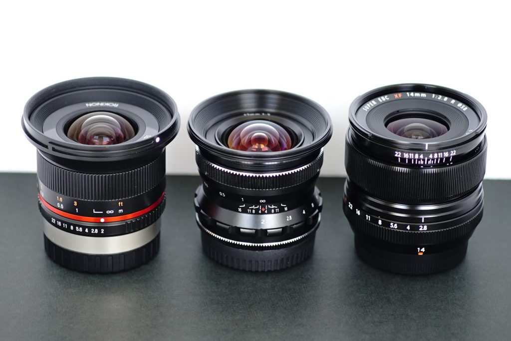 Pergear 12mm f/2 vs samyang and fuji