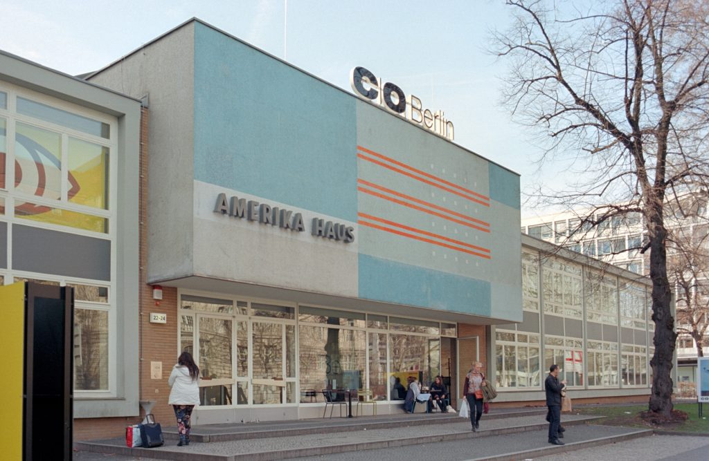 Amerika Haus, built in 1957, and typically for the post-war architecture of the 1950s in Germany