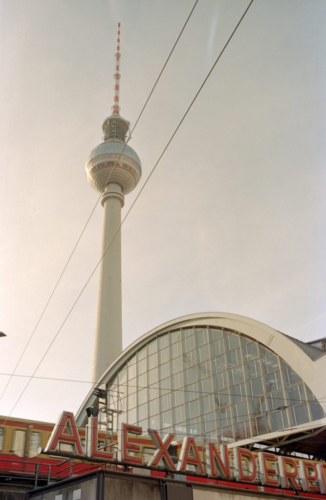 TV Tower, a showcase of the power of the GDR at that time. When completed, it was the second highest TV tower in the world.