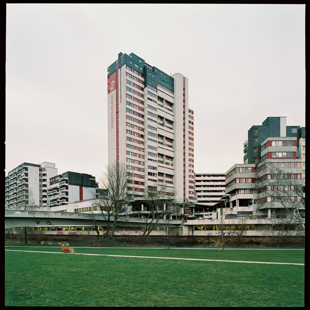Ihme-Zentrum housing complex in Hannover, Germany, shot on expired film