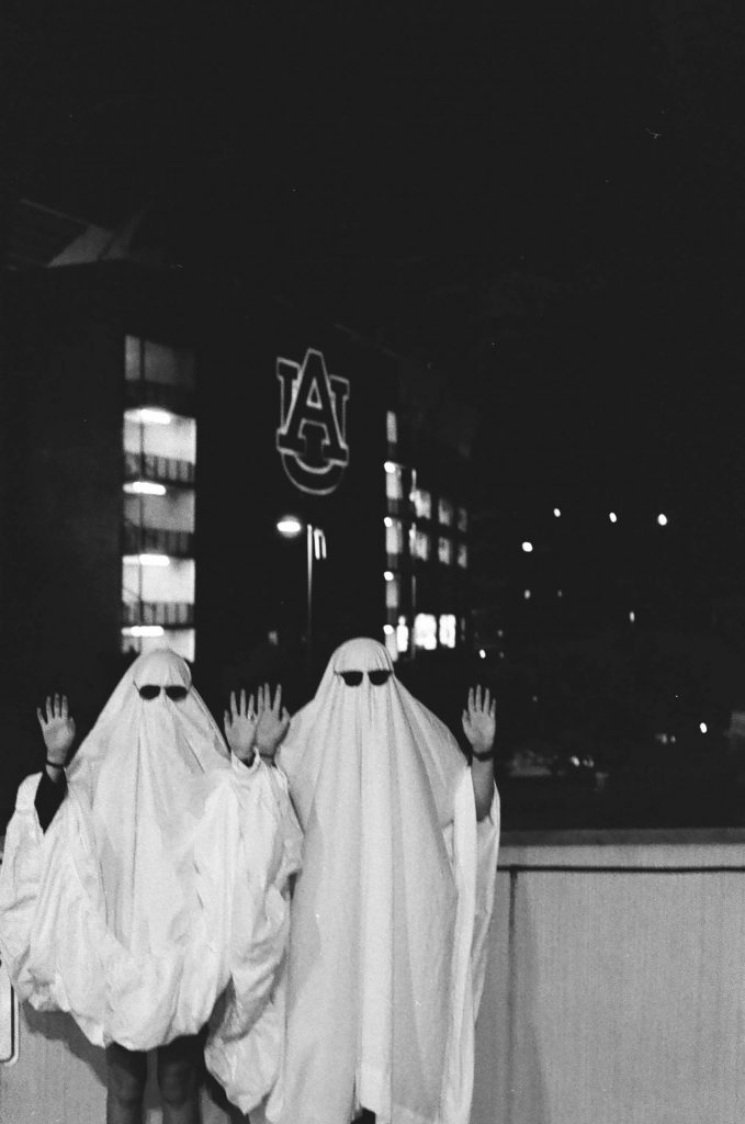 Ghosts with Hands Up Unfocused