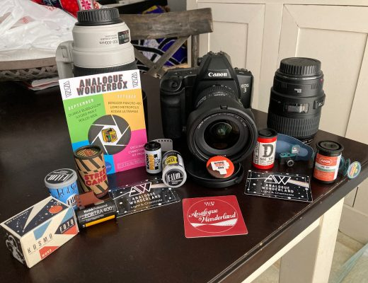 Canon EOS 3 and Analogue Wonderbox items