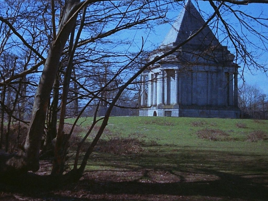 photograph of the Darnley Mausoleum in the near distance