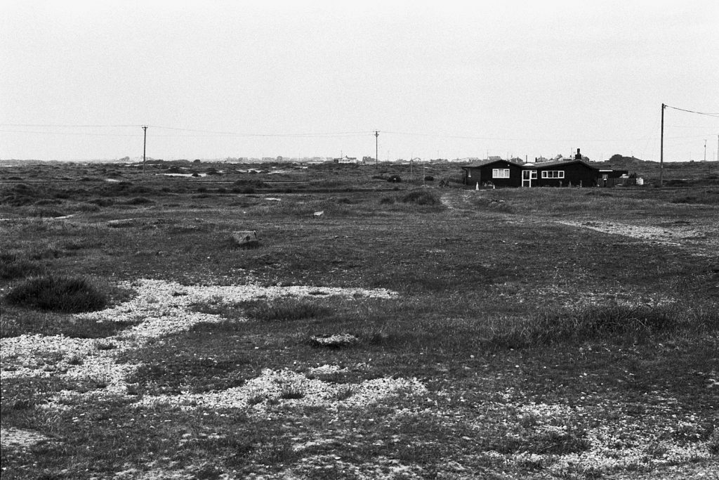 A cabin on the beach, Dungeness, Kent.
