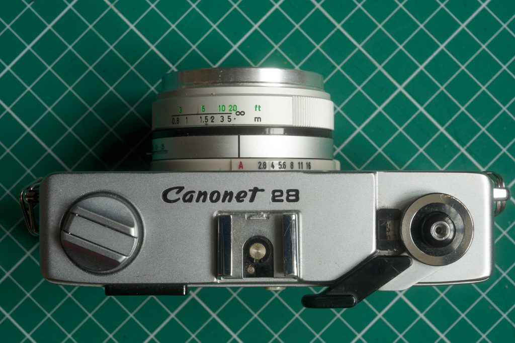 Canonet 28 top plate