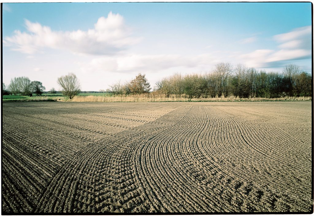 An agricultural field without any visible crops