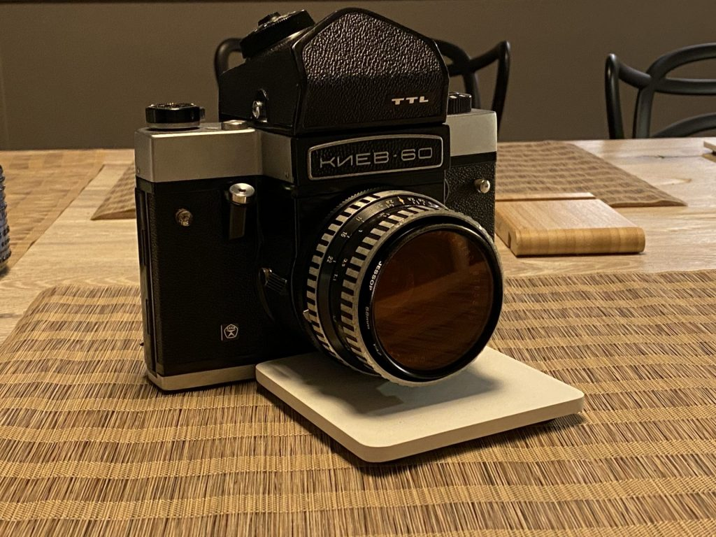Kiev 60 with Zeiss Biometar 80mm f/2.8 lens mounted