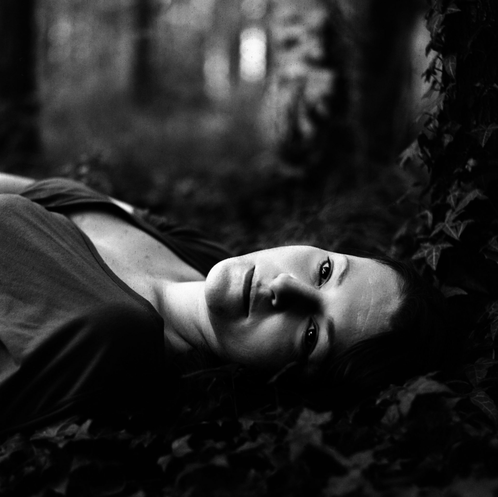 Woman Lying on The Ground