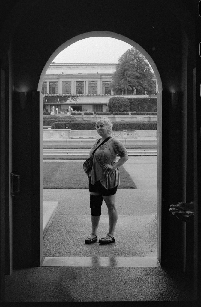 Wifey standing in archway