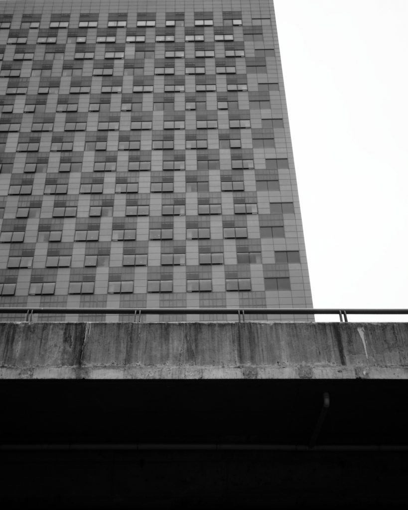 Abstract shot of building and highway