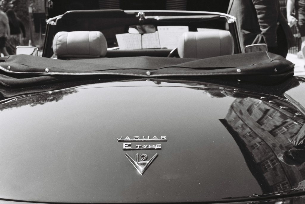 E-Type Jag and rear-view eyes - FM3A