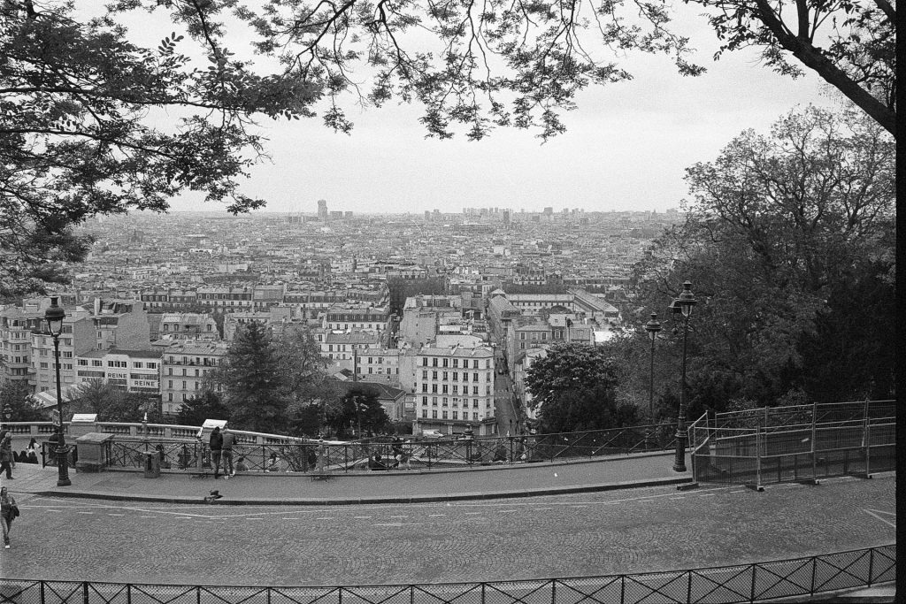 a view of Paris from Montmartre Basilica