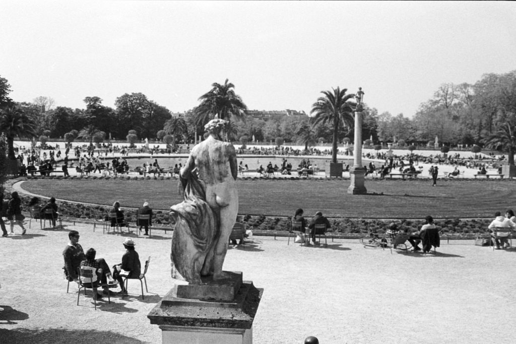 View from the Jardin du Luxembourg in Paris
