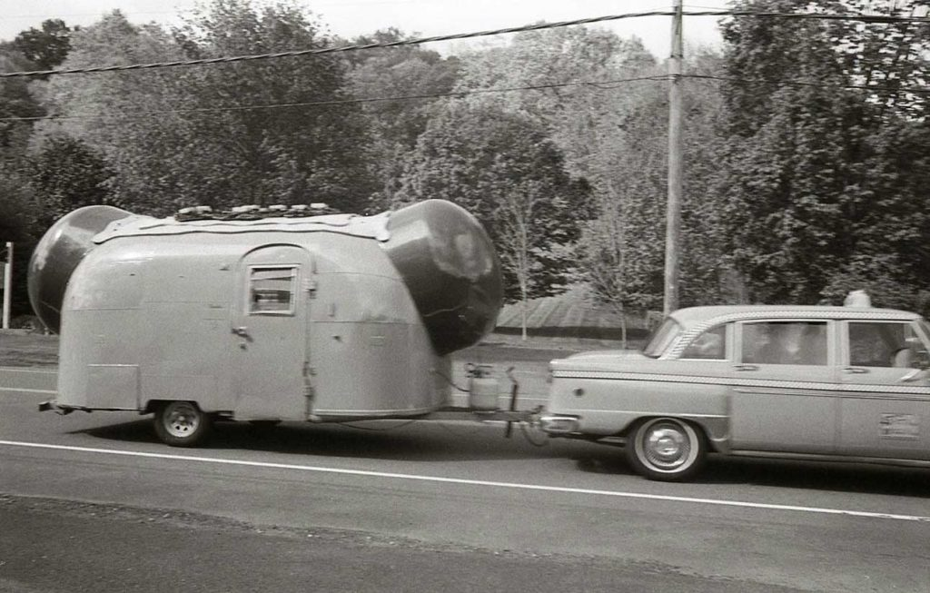 Car and Top Dog Trailer